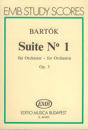 BARTOK - Suite n ° 1 op. 3 for orch. - Driver - Sheet Music - di-arezzo.com