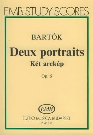 Béla Bartok - 2 Portraits, Opus 5 - Conducteur - Partition - di-arezzo.fr