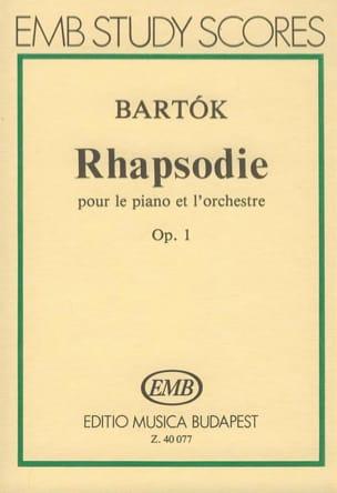 Rhapsodie pour piano op. 1 - Partitur - BARTOK - laflutedepan.com