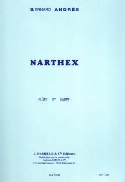 Bernard Andrès - Narthex pour Flûte et Harpe - Partition - di-arezzo.fr