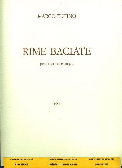 Marco Tutino - Rime Baciate - Flauto e arpa - Partition - di-arezzo.fr
