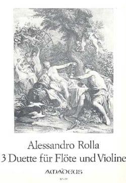 Alessandro Rolla - 3 Duette - Flöte und Violine - Partition - di-arezzo.fr