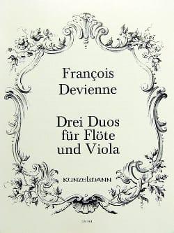 3 Duos, Opus 5 - Flûte et Alto DEVIENNE Partition Duos - laflutedepan