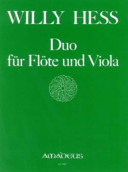 Duo für Flöte und Viola - Willy Hess - Partition - laflutedepan.com