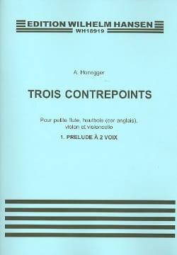 3 Contrepoints- N°1 : Prélude A 2 Voix - HONEGGER - laflutedepan.com