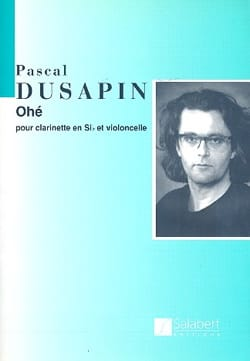 Pascal Dusapin - Ohé - Partition - di-arezzo.fr
