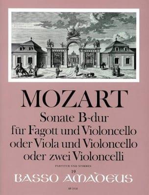 Sonate en Sib Majeur Kv 292 MOZART Partition Duos - laflutedepan