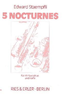 5 Nocturnes - Edward Staempfli - Partition - Duos - laflutedepan.com