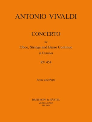 Concerto in D minor RV 454 - Oboe strings Bc - laflutedepan.com