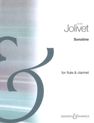 André Jolivet - Sonatine - Clarinet flute - Sheet Music - di-arezzo.co.uk