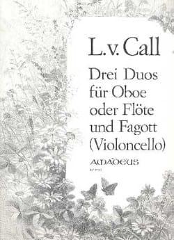 Leonhard von Call - 3 Duos Op. 12 - Partition - di-arezzo.fr