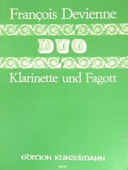 Duo n° 6 - Klarinette Fagott - François Devienne - laflutedepan.com