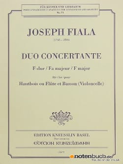 Joseph Fiala - F major concerto duo - Sheet Music - di-arezzo.com