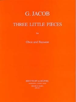 Gordon Jacob - 3 Little pieces - Oboe bassoon - Sheet Music - di-arezzo.co.uk