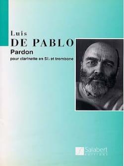 Luis de Pablo - Pardon - Partition - di-arezzo.fr