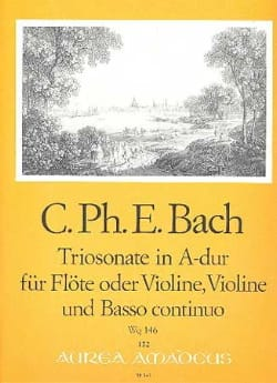 Carl Philipp Emanuel Bach - Triosonate A-Dur Wq 146 - Floe o. Violine Violine u. Bc - Sheet Music - di-arezzo.com
