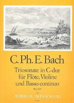 Carl Philipp Emanuel Bach - Triosonat C-Dur Wq 149 - Flöte Violine u. Bc - Noten - di-arezzo.de
