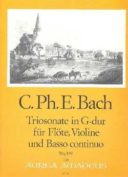 Carl Philipp Emanuel Bach - Triosonate G-Dur Wq 150 - Flute Violine u. Bc - Sheet Music - di-arezzo.com