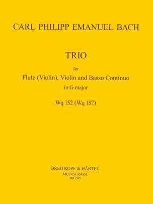 Trio in G major (Wq 152) - Flute (violin) violin Bc - laflutedepan.com