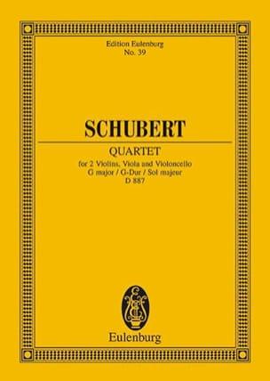 Franz Schubert - Quatuor A Cordes en Sol Majeur D. 887 - Partition - di-arezzo.fr