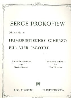 Serge Prokofiev - Humoristisches Scherzo op. 12 n° 9 –4 Fagotte - Partition - di-arezzo.fr