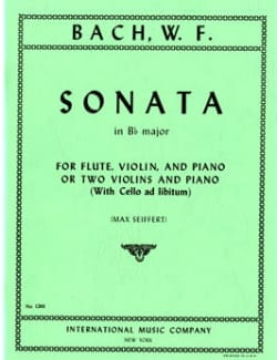 Sonata B flat major -Flute violin piano or 2 violins piano laflutedepan