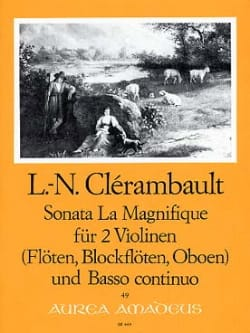 Louis Nicolas Clérambault - Sonata La Magnifique – 2 Violinen u. Bc - Partition - di-arezzo.fr