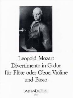 Leopold Mozart - Divertimento G-Dur - Flöte o. Oboe Violine Basso - Sheet Music - di-arezzo.com