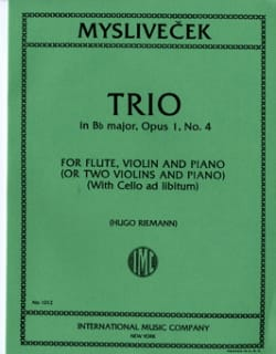 Josef Myslivecek - Trio in Bb major, op. 1 n° 4 – Flute, violin, piano - Partition - di-arezzo.fr