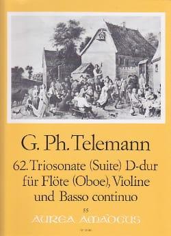 TELEMANN - Triosonate Suite Nr. 62 D-Dur -Flöte Oboe Violine u. Bc - Partition - di-arezzo.fr