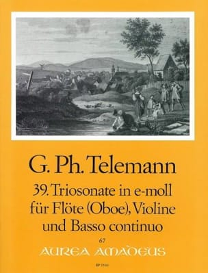 Triosonate Nr. 39 e-moll (Mi Min.) - Flûte, Violon et Bc - laflutedepan.com
