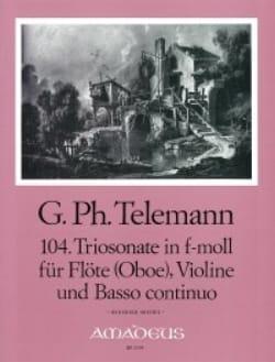 TELEMANN - Triosonate No. 104 F-Moll - floe Oboe Violine U. Bc - Sheet Music - di-arezzo.com