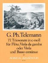 TELEMANN - Triosonate Nr. 77 c-moll - flute Viola da gamba u. Bc - Sheet Music - di-arezzo.com