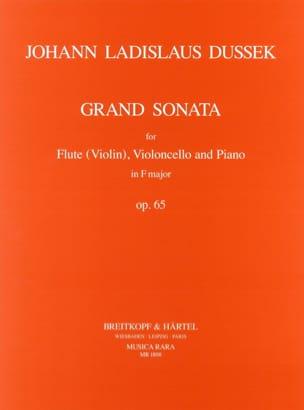 Johann Ladislaus Dussek - Grand Sonata F major op. 65 -Flute violoncello piano - Partition - di-arezzo.fr