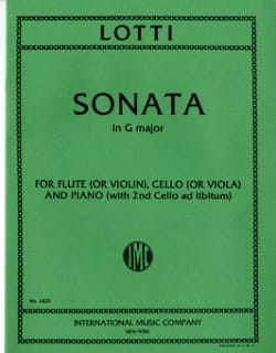 Sonata in G major - Flute cello piano Antonio Lotti laflutedepan