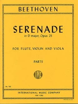 Ludwig van Beethoven - Serenade op. 25 D major – Flute violin viola - Parts - Partition - di-arezzo.fr