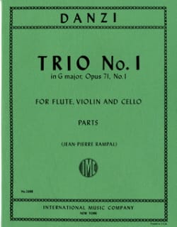 Trio n° 1 in G major op. 71 - Flute violin cello - Parts laflutedepan