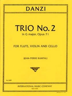 Trio n° 2 in G major op. 71 - Flute violin violoncelle - Parts laflutedepan