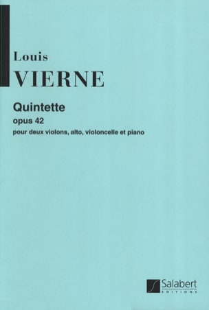 Louis Vierne - Quintet op. 42 - Sheet Music - di-arezzo.co.uk