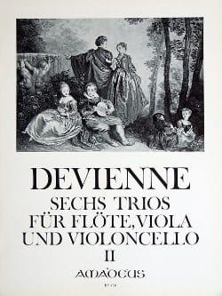 François Devienne - 6 Trios (Bd. 2) -Flöte Viola Violoncello - Stimmen - Partition - di-arezzo.fr