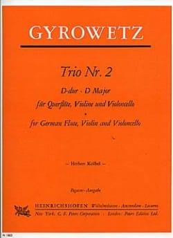 Adalbert Gyrowetz - Trio Nr. 2 D-Dur –Stimmen - Partition - di-arezzo.fr