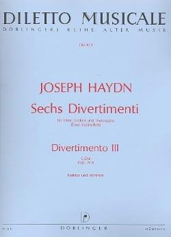 HAYDN - 6 Divertimenti, Divertimento Nr. 3 C-Dur -conducteur et parties. - Partition - di-arezzo.fr