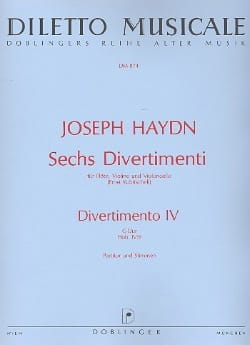 HAYDN - 6 Divertimenti, Divertimento Nr. 4 G-Dur - Conducteur et parties - Partition - di-arezzo.fr