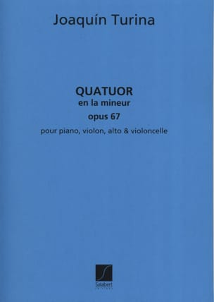 Joaquin Turina - Quartet in A minor op. 67 - Parties - Sheet Music - di-arezzo.co.uk