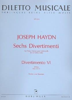 Joseph Haydn - 6 Divertimenti, Divertimento Nr. 6 D-Dur –conducteur et parties. - Partition - di-arezzo.fr