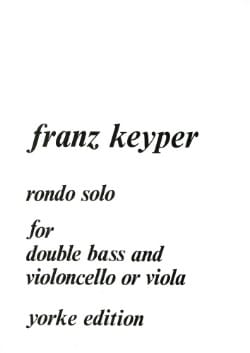 Franz Keyper - Rondo Solo for double bass and cello or viola - Partition - di-arezzo.fr