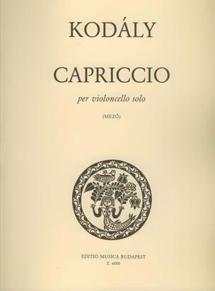 Capriccio - Zoltan Kodaly - Partition - laflutedepan.com