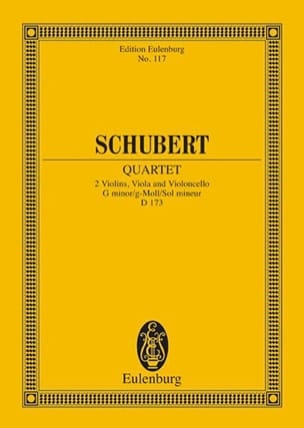 SCHUBERT - Streich-Quartett G-Moll Op. Posth. D 173 - Sheet Music - di-arezzo.co.uk