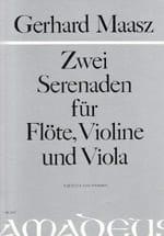Gerhard Maasz - 2 Serenaden - Flute Violine Viola - Partitur Stimmen - Sheet Music - di-arezzo.com
