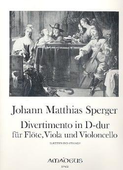 Johann Matthias Sperger - Divertimento in D-Dur –Flöte Viola Violonc. - Stimmen - Partition - di-arezzo.fr